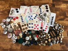 Lot of Vintage Sewing Buttons & Button Cards