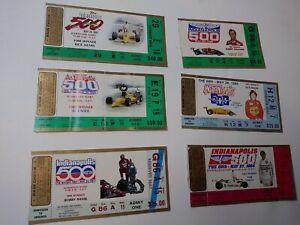 Indianapolis 500 Ticket Stubs 1984 1985 1986 1987 1988 1989 USED