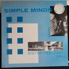 SIMPLE MINDS Sister Feelings Call Virgin– OVED 2 - NEAR MINT VINYL 1981