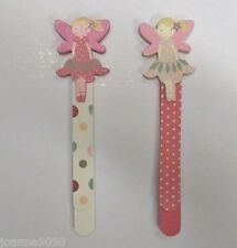 GISELA GRAHAM HANDPAINTED WOODEN FAIRY PRINCESS BOOKMARK PINK GIRLS READING GIFT