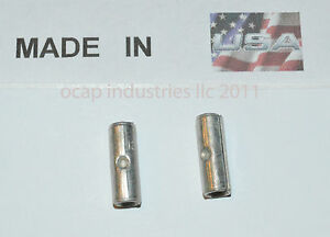 (100) 12-10 NON-INSULATED BUTT WIRE CONNECTOR UNINSULATED MADE IN USA