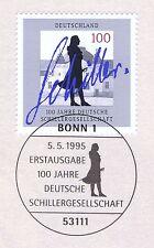 BRD 1995: deutsche Schiller-Gesellschaft Nr 1792 bonner primero etiquetas sello! 1a 1510