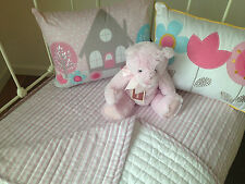 Girls Quilted Cot Coverlet Cameron Pink Stripe Designers Choice  Crib Blanket