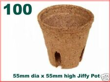55mm Dia Jiffy Garden Plant Pots - Biodegradable x 100