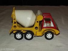 VINTAGE TOY 1969 HUBLEY YELLOW & RED CEMENT MIXER