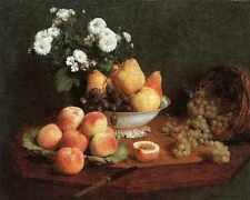 Henri FANTIN Latour la frutta stampa in A4