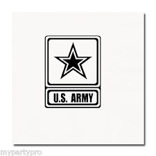 US ARMY LUNCHEON NAPKINS Party Supplies FREE SHIPPING