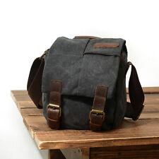 Vintage Canvas DSLR SLR Camera Bag Travel Shoulder Messenger for Canon Nikon USA