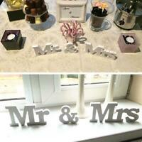White Mr and Mrs Letters Sign Wooden Standing Top Table Wedding Decorations BR