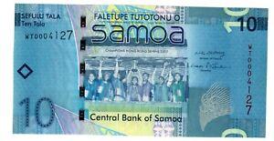 WESTERN SAMOA Billet 10 TALA 2007 2008 P39 COMMEMORATIVE Champions Hong Kong 7th