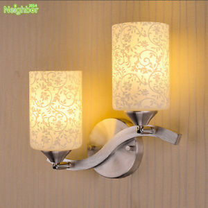 NEW White Glass Indoor Wall Fixtures Wall Sconce Lights Aisle/Porch Bedroom Lamp