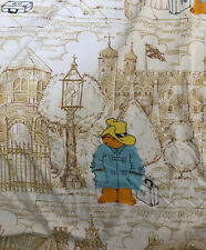 Vintage Paddington Bear Twin Size Fitted Bed Sheet