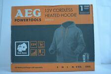 AEG Powertools 12v Cordless Heated Hoodie BHH12-0 XXL USB CHARGING NEW