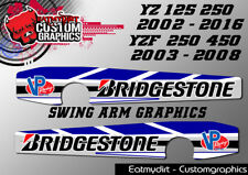 FOR YAMAHA YZ 125 250 02-16 & YZF 03-08 FULL SWING ARM GRAPHICS STICKERS DECALS