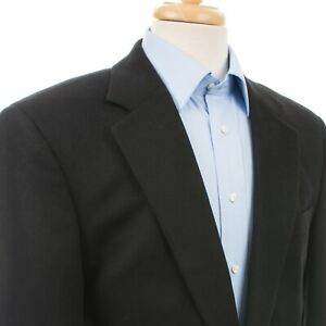 BROOKS BROTHERS 1818 Loro Piana Cashmere Madison-Fit Sports Coat Jacket Black 42