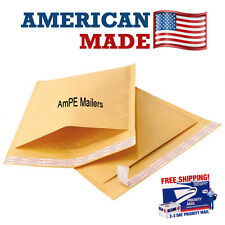 AmPE 100 #1  7.25x12  Kraft Bubble Mailers Padded Envelopes mailer