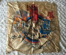 "Original Vintage Led Zeppelin Small Tapestry - 21 7/8"" x 22 1/2"" - needs cleaned"