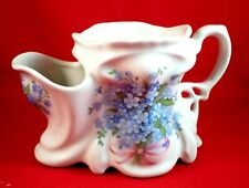 More details for vintage shaving mug staffordshire forget me not bouquets shabby chic ironstone