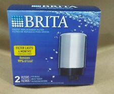 Brita Faucet Replacement Filter, FR-200 - 2 Pack, Chrome, for FF-100 or SAFF-100