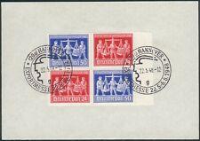 Alliierte Besetzung/German Post Mi.-Nr.V zd 1 als 4er Block Hannover Messe 1948