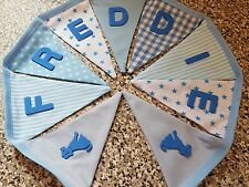 PERSONALISED BUNTING- PUPPY DOGS-ANY NAME- ANY COLOUR- £1 PER FLAG, FREE P&P
