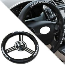 Pilot Automotive Honda with Black Leather Genuine Steering Wheel Cover