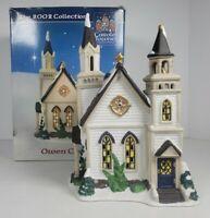 Carole Towne Owen Chapel Lighted Christmas House 2002 Lemax #MA22084D w/Box