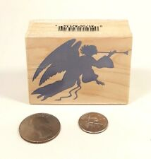 Hero Arts E2578 Angel with Horn Silhouette Rubber Stamp Mounted