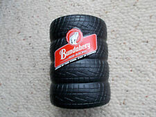 BUNDABERG RUM BUNDY TYRE  STUBBY HOLDERS X 2 OFF  , NEW - GREAT FOR THE MANCAVE