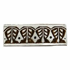 Indian Wooden Textile Stamps Wood Printing Block Leaves Stamp Decorative Block