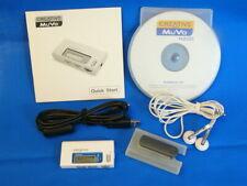 CREATIVE MuVo N200 TESTED mp3 wma fm Player 256mb BUNDLE w/Earbuds Digital LOT