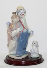 "LLADRO ""PALS FOREVER"" #7686 & ""A FRIEND FOR LIFE"" #7685 FIGURINES ~ MINT W/BOXES"