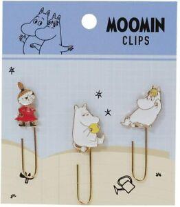Moomin Valley metal charm paper clips bookmark index set of 3 Snork Maiden