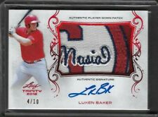 2018 Leaf Trinity LUKEN BAKER Musial Patch Red Prismatic Auto RC 4/10 Cardinals