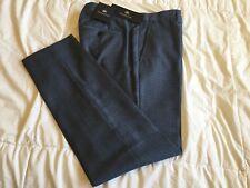 Banana Republic Monogram Italian Wool Plaid Pants, Blue/Navy, 30X30, NWT!