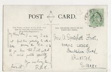 Mrs A. Spatchett Frost, Norvic Lodge, Brambledown Rd, Wallington Postcard, B332