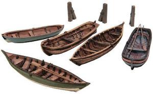 HO Roco Artitec Resin Ship Kits Unassembled Unpainted #50.122 Row Boats