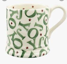 More details for emma bridgewater (christmas) joy half pint mug comes in brown box