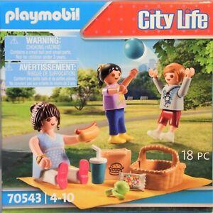 PLAYMOBIL 70543 Picknick im Park Schwangere Kinder Korb Ball Decke Hot-Dog NEU