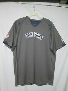 MLB New York Yankees Majestic Gray Jersey Size 3XT