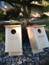 Screech Owl / Kestrel Nest Box, White Cedar  (Two nest boxes)