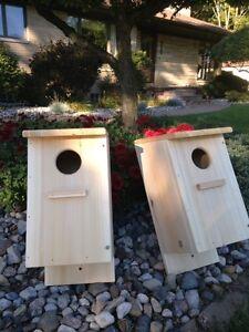 Screech Owl / Kestrel Nest Box, Cedar  (four nest boxes)