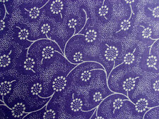 New ListingWhite Floral on Purple Cotton Quilting Sewing Fabric- 1 Yard