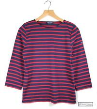 3/4 Sleeve Striped Cotton Other Women's Tops