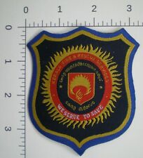INDIA State of KERALA FIRE & RESCUE Services Indian Fire Fighters large patch
