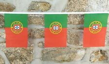 More details for portugal flag polyester bunting - various lengths