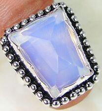 L'OPALITE & 925 argento fatti a mano alla moda Anello Taglia O & Scatola Regalo