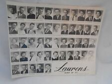 1957 High School Class photograph Laurens Iowa black and white 9 1/2 x 7 1/2