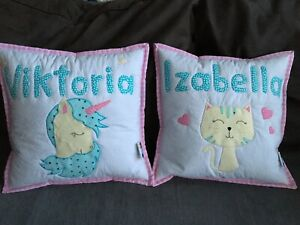 Custom Made Personalised Quilted Cushion Cover Handmade By Mum&me