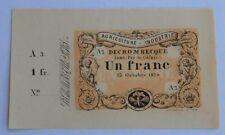 1 Franc 1870 ( deutsch-französischer Krieg )